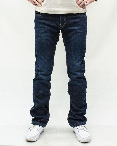 Джинсы мужские VING синие зимние 4614-1