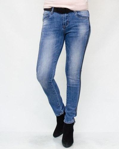 Джинсы женские CUDI голубые с ремнем 9359