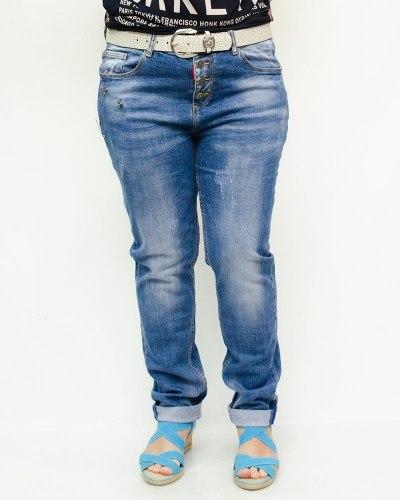 Джинсы женские DICESIL голубые с ремнем 5180
