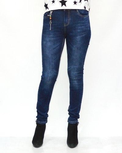Джинсы женские GALLOP синие теплые 0382