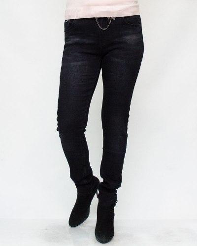 Джинсы женские LDM черные с ремнем 9032