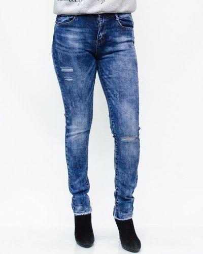 Джинсы женские MOON GIRL голубые 8927