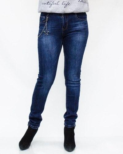 Джинсы женские MOON GIRL синие 8891-1