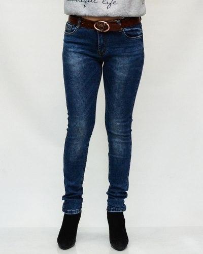 Джинсы женские MS синие с ремнем 6092