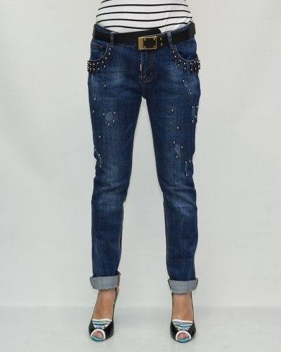Джинсы женские VANVER синие с ремнем 81058