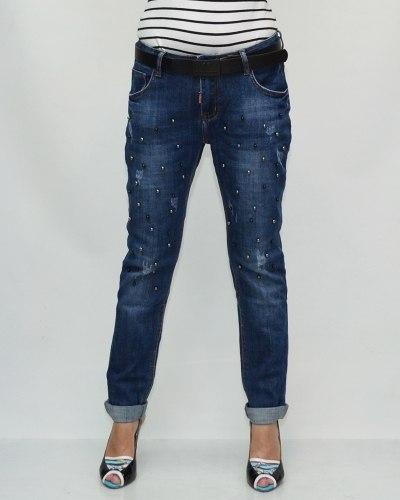 Джинсы женские VANVER синие с ремнем 81059