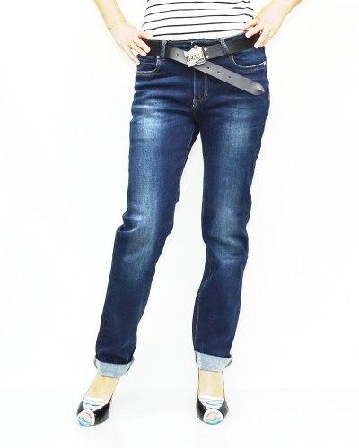 Джинсы женские VERSION синие с ремнем 8170