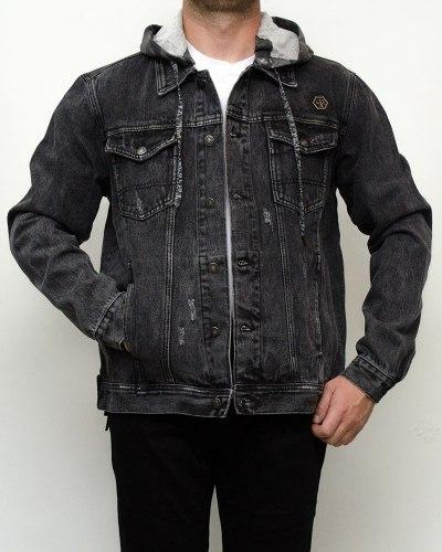 Куртка мужская джинсовая RESALSA серая 9811