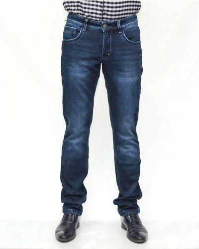 Джинсы мужские FANGSIDA синие теплые 1131