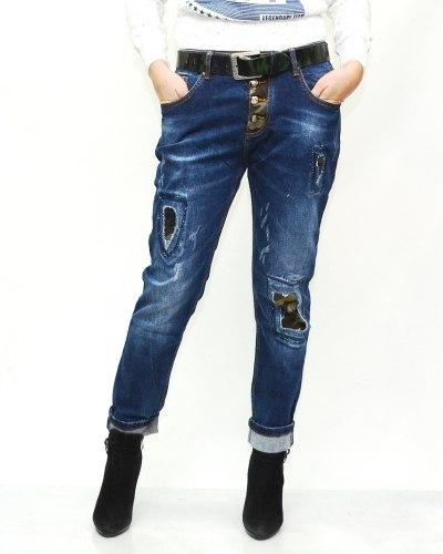 Джинсы женские LOLO синие с ремнем 9588