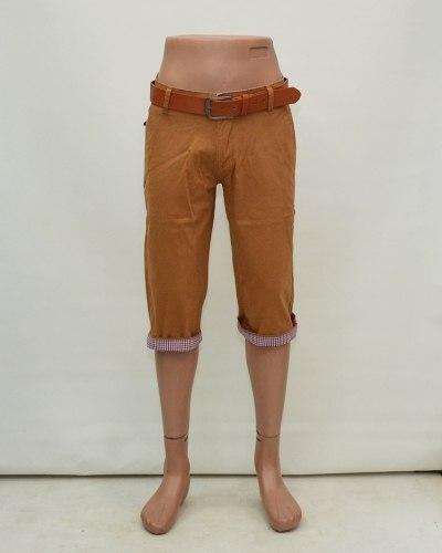 Шорты мужские CATENVIN коричневые с ремнем 2006-39