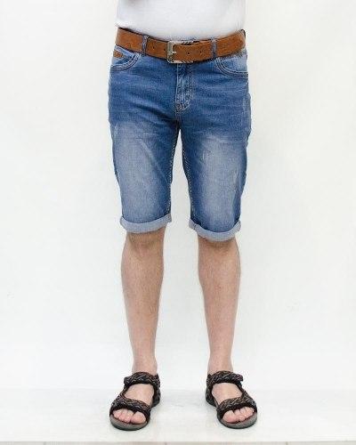 Шорты мужские RESALSA голубые с ремнем 6028