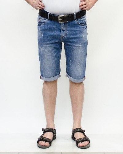 Шорты мужские RESALSA голубые с ремнем 6170